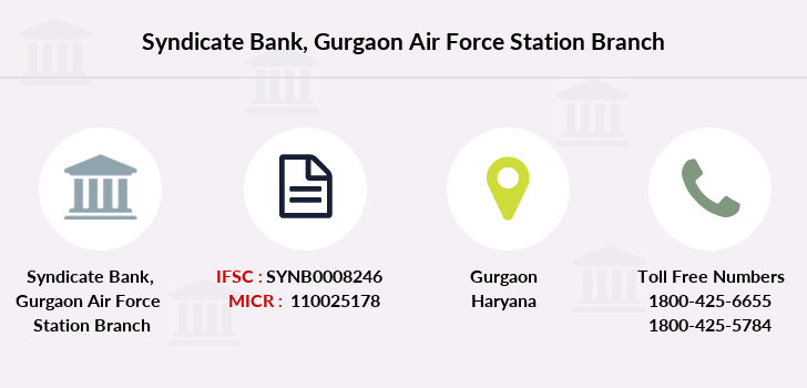 Syndicate-bank Gurgaon-air-force-station branch
