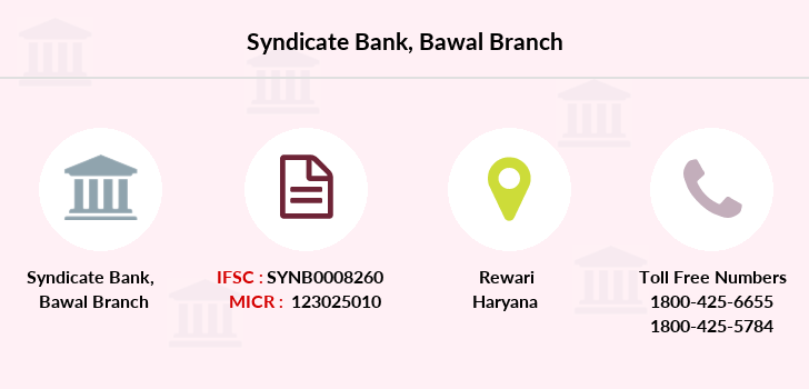 Syndicate-bank Bawal branch