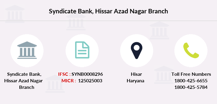 Syndicate-bank Hissar-azad-nagar branch