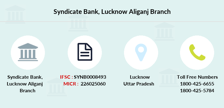 Syndicate-bank Lucknow-aliganj branch