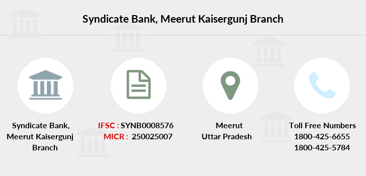 Syndicate-bank Meerut-kaisergunj branch