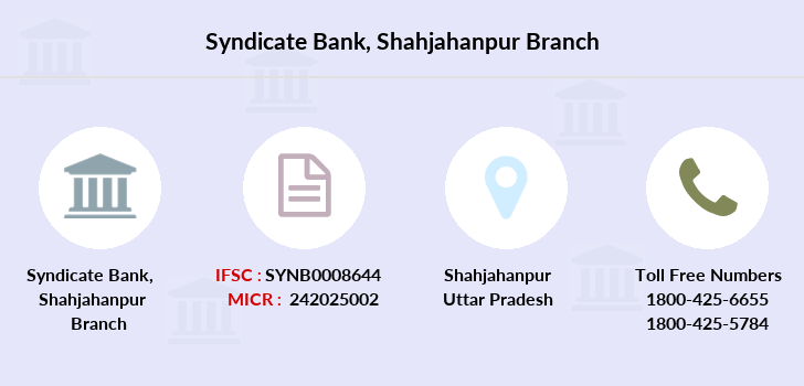 Syndicate-bank Shahjahanpur branch