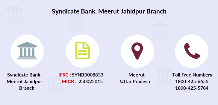 Syndicate-bank Meerut-jahidpur branch