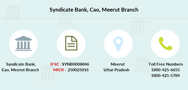 Syndicate-bank Cao-meerut branch