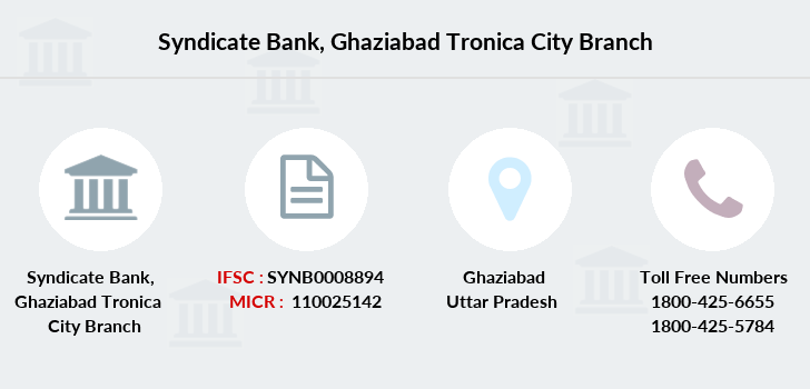 Syndicate-bank Ghaziabad-tronica-city branch