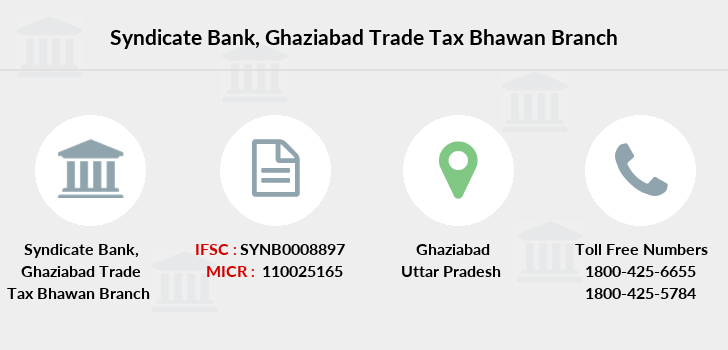 Syndicate-bank Ghaziabad-trade-tax-bhawan branch