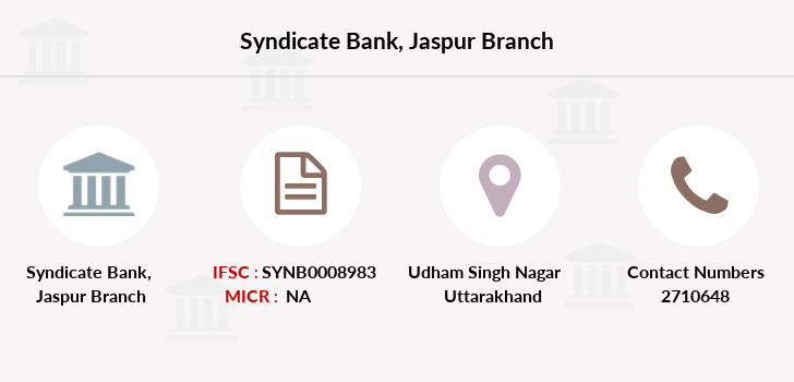 Syndicate-bank Jaspur branch