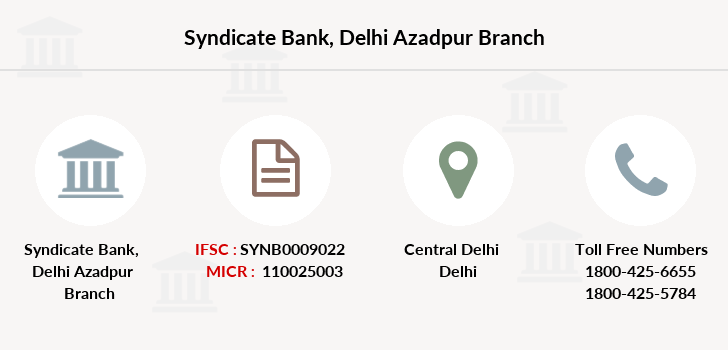 Syndicate-bank Delhi-azadpur branch