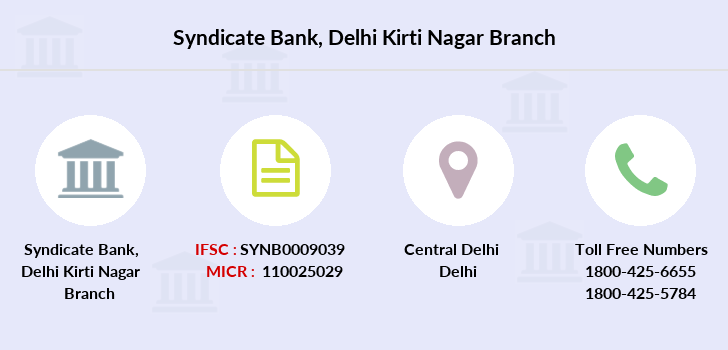 Syndicate-bank Delhi-kirti-nagar branch