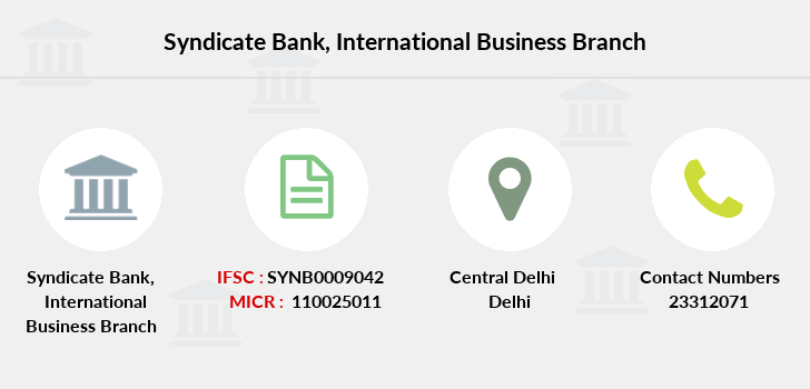 Syndicate-bank International-business branch