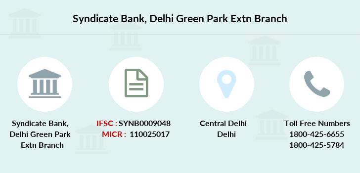 Syndicate-bank Delhi-green-park-extn branch