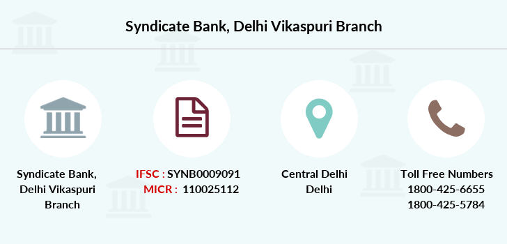 Syndicate-bank Delhi-vikaspuri branch
