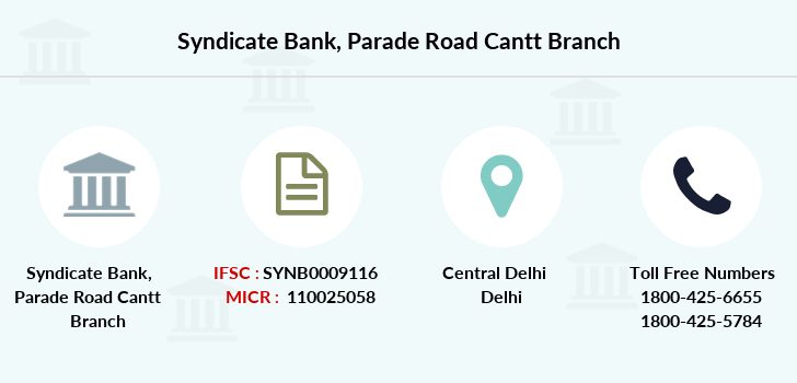 Syndicate-bank Parade-road-cantt branch