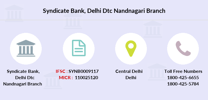 Syndicate-bank Delhi-dtc-nandnagari branch