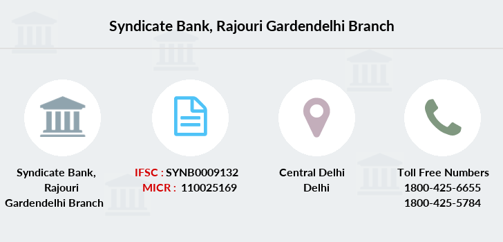 Syndicate-bank Rajouri-gardendelhi branch