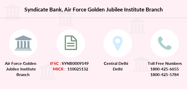 Syndicate-bank Air-force-golden-jubilee-institute branch
