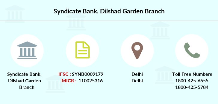 Syndicate-bank Dilshad-garden branch