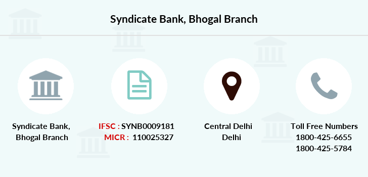 Syndicate-bank Bhogal branch