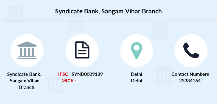 Syndicate-bank Sangam-vihar branch