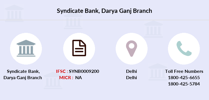 Syndicate-bank Darya-ganj branch