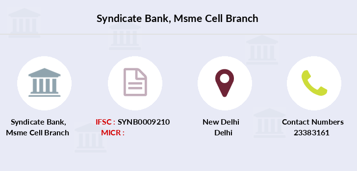 Syndicate-bank Msme-cell branch