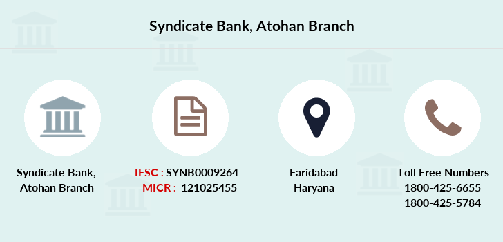 Syndicate-bank Atohan branch