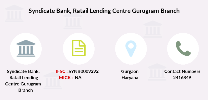 Syndicate-bank Ratail-lending-centre-gurugram branch