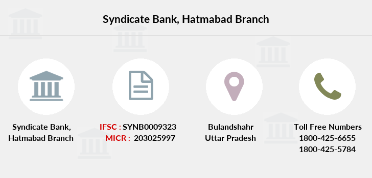 Syndicate-bank Hatmabad branch