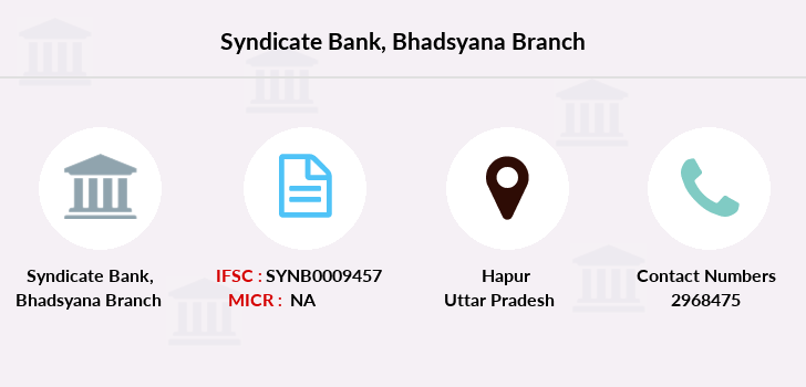 Syndicate-bank Bhadsyana branch