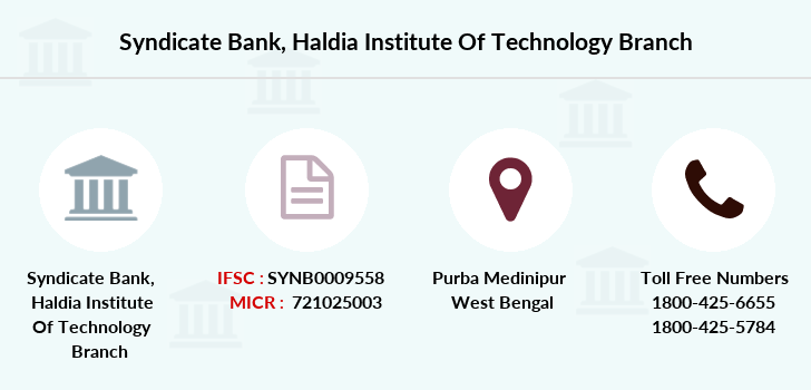 Syndicate-bank Haldia-institute-of-technology branch