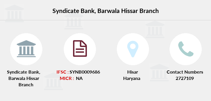 Syndicate-bank Barwala-hissar branch