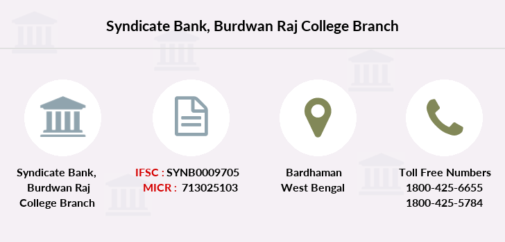 Syndicate-bank Burdwan-raj-college branch