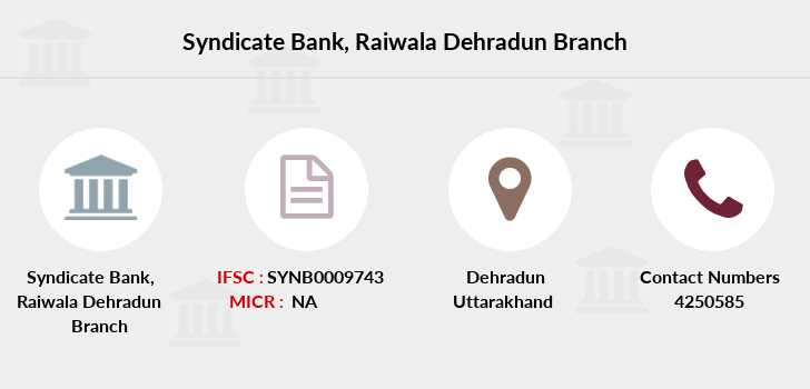 Syndicate-bank Raiwala-dehradun branch