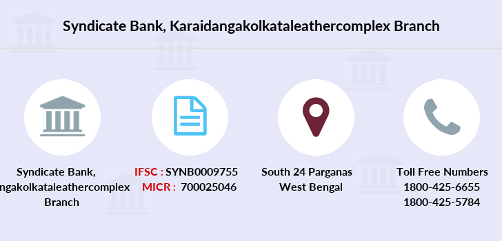 Syndicate-bank Karaidangakolkataleathercomplex branch