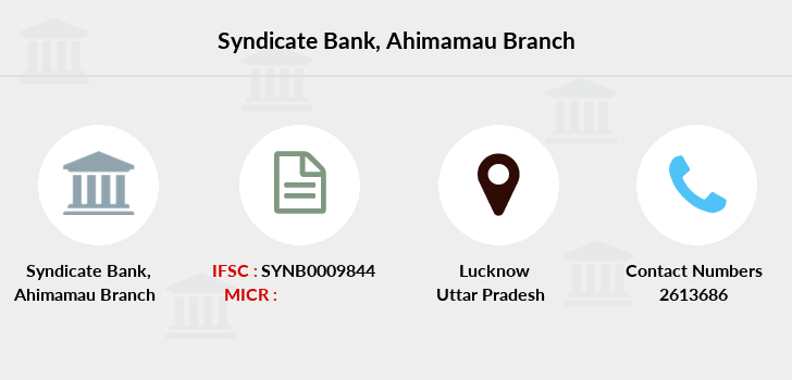 Syndicate-bank Ahimamau branch