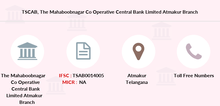 Co-operative-banks The-mahaboobnagar-co-operative-central-bank-limited-atmakur branch