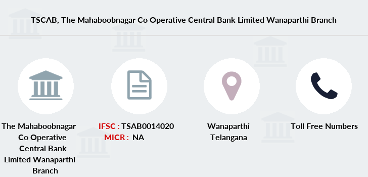 Co-operative-banks The-mahaboobnagar-co-operative-central-bank-limited-wanaparthi branch