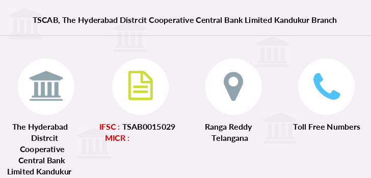 Telangana-state-coop-apex-bank The-hyderabad-distrcit-cooperative-central-bank-limited-kandukur branch