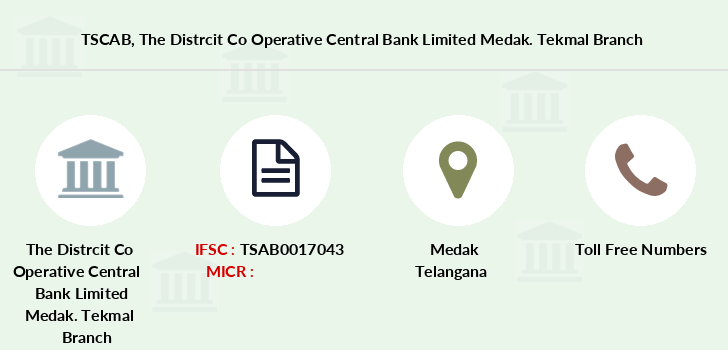 Telangana-state-coop-apex-bank The-distrcit-co-operative-central-bank-limited-medak-tekmal branch
