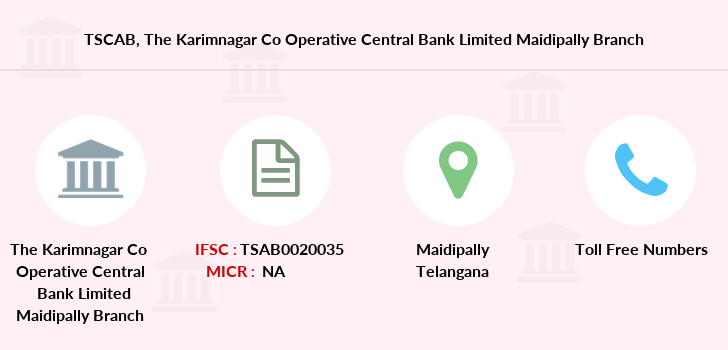 Co-operative-banks The-karimnagar-co-operative-central-bank-limited-maidipally branch