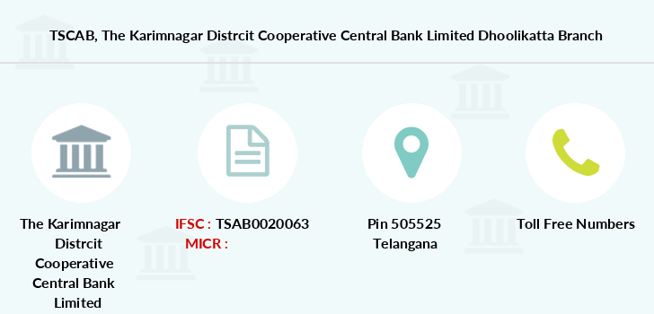 Telangana-state-coop-apex-bank The-karimnagar-distrcit-cooperative-central-bank-limited-dhoolikatta branch