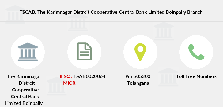 Telangana-state-coop-apex-bank The-karimnagar-distrcit-cooperative-central-bank-limited-boinpally branch