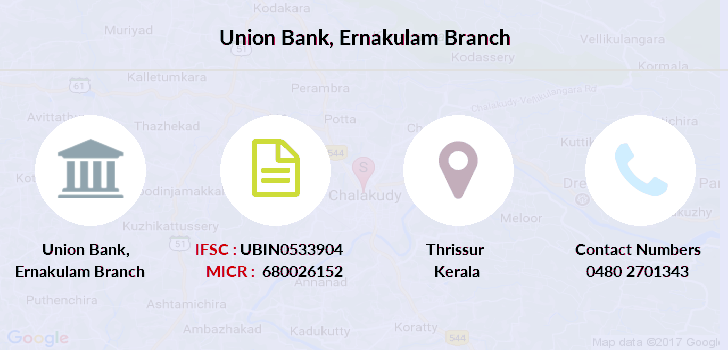 union bank of india ernakulam main branch ifsc code