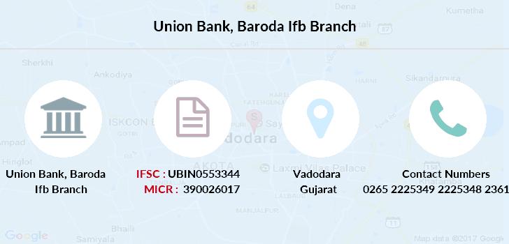 union bank of india branch vadodara