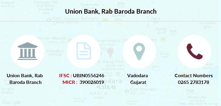 union bank of india baroda branches