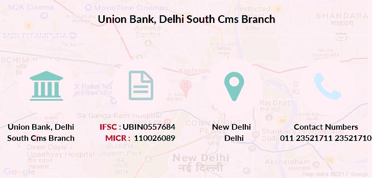 union bank of india delhi customer care no