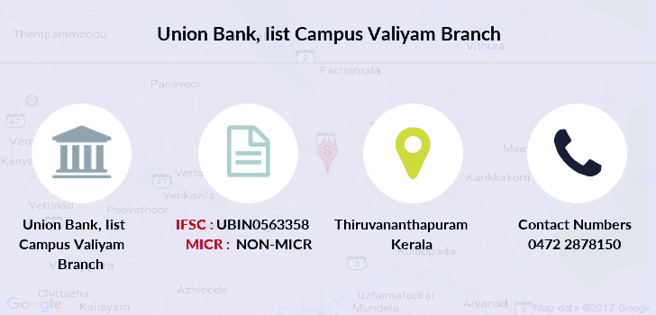 Union-bank-of-india Iist-campus-valiyam branch
