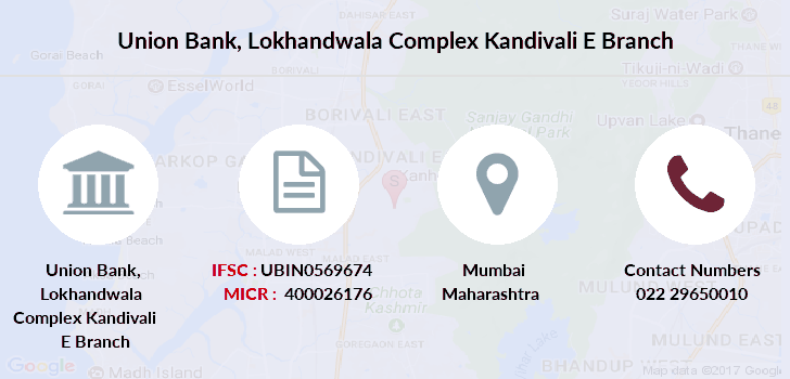 union bank of india kandivali east branch email address
