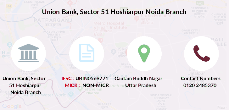 ifsc code of union bank of india sector 29 noida