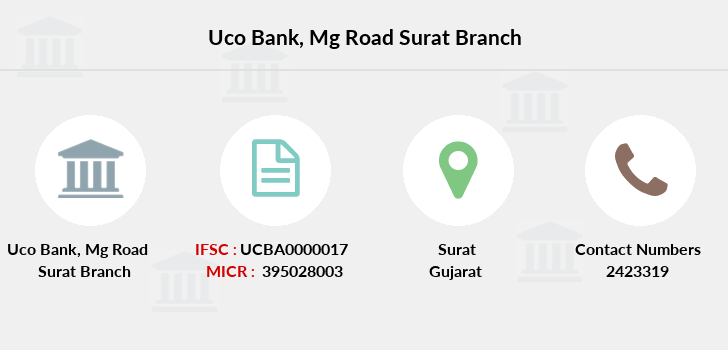 Uco-bank Mg-road-surat branch